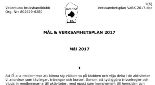 Handlingar till årsmötet 12 feb, 2017
