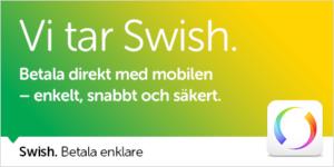 Nu finns möjlighet att betala med Swish